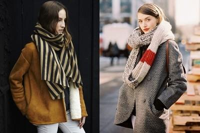 冬天必備的5種圍巾款式