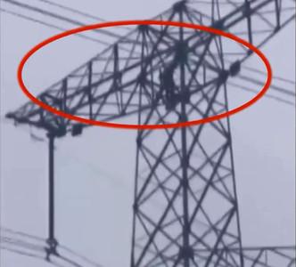 屁孩爬高壓電塔 70公尺高空搖晃4小時