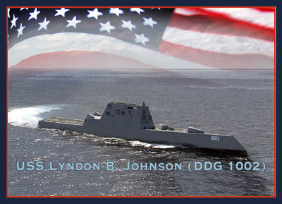 美國末艘朱瓦特級隱形驅逐艦下水
