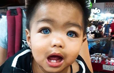 爸媽非外國人 泰男童「藍眼睛」爆紅