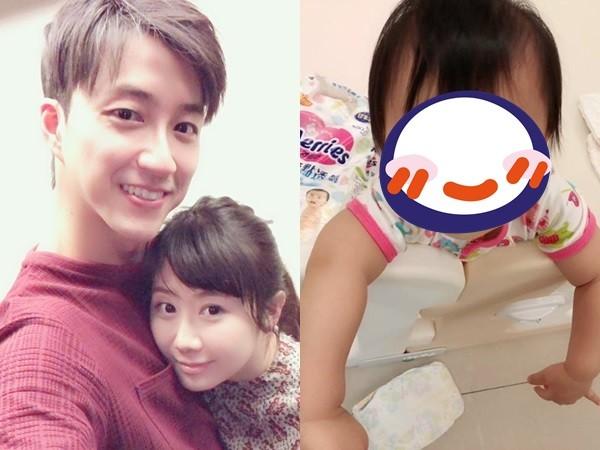 女兒把尿布丟滿地…江宏傑剛要教訓 小小愛「一個眼神」他秒放棄