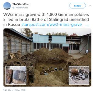 俄國出土1837具「2戰德士兵」遺骸