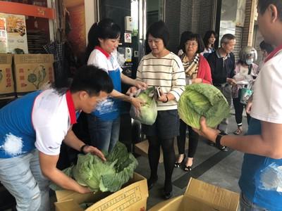 旅行社幫小農 再送2000顆高麗菜