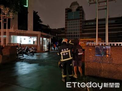 中央氣象局地下室機房起火冒煙