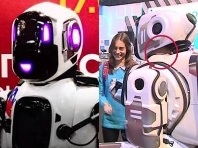 騙人!俄發表史上「最先進機器人」鏡頭放大…縫隙露出真人皮膚