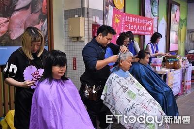 花蓮重慶市場義剪 樂捐贈社服團體