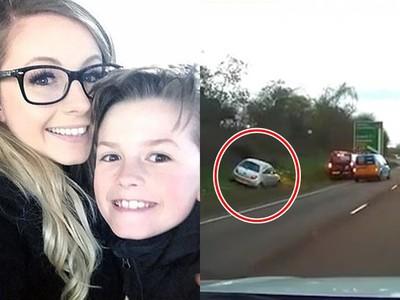 高速公路上「母癲癇發作昏迷」8歲童緊抓方向盤 淡定開警示燈踩剎車