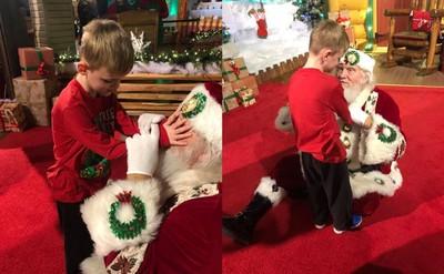 聖誕老人融化6歲視障自閉童