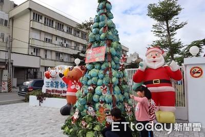 幼兒助農 2千顆高麗菜做聖誕樹