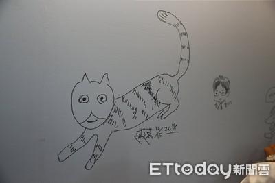 陳其邁畫愛貓簽兩字!萬人被萌炸