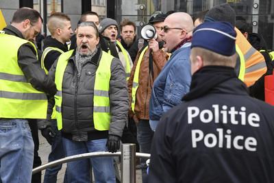 布魯塞爾爆「第3波」黃背心抗議