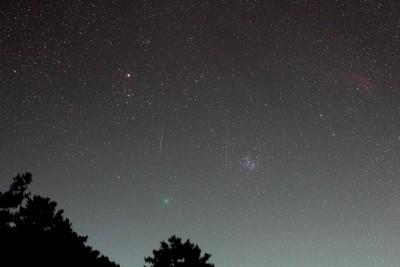 雙子座流星雨同框46P彗星絕美畫面