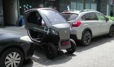 可摺疊電動小車 輕鬆停進機車格