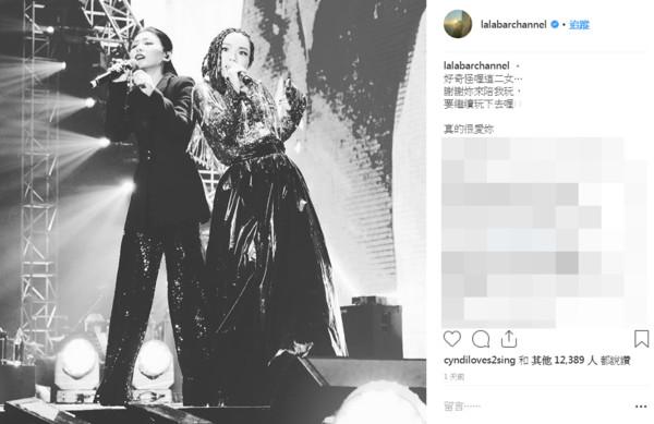 ▲▼媽入鏡「根本徐佳瑩x2」!(圖/翻攝自Instagram/lalabarchannel)