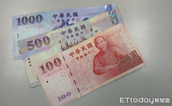 ▲錢,新台幣,百元鈔,千元鈔,五百元鈔。示意圖。(圖/記者林冠瑜攝)