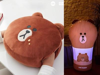 南韓限定熊大抱枕可以「暖手」!