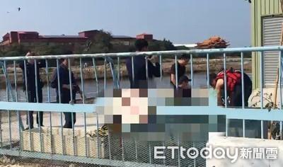 女子失足墜魚塭 警消搶救