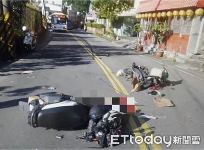 女騎士自撞電線桿倒地 再被後方機車撞死