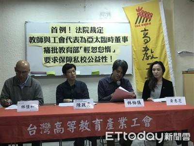 首例!法院裁定工會接亞太臨時董事