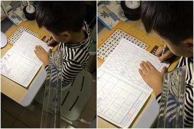 兒子亂寫作業!媽媽秀這把尺超漂亮