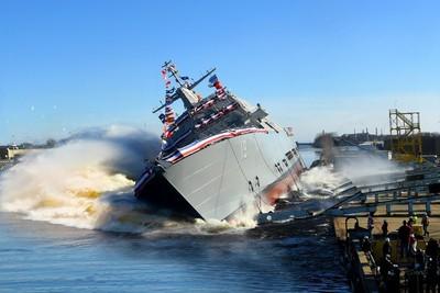 美海軍第19艘瀕海戰鬥艦下水