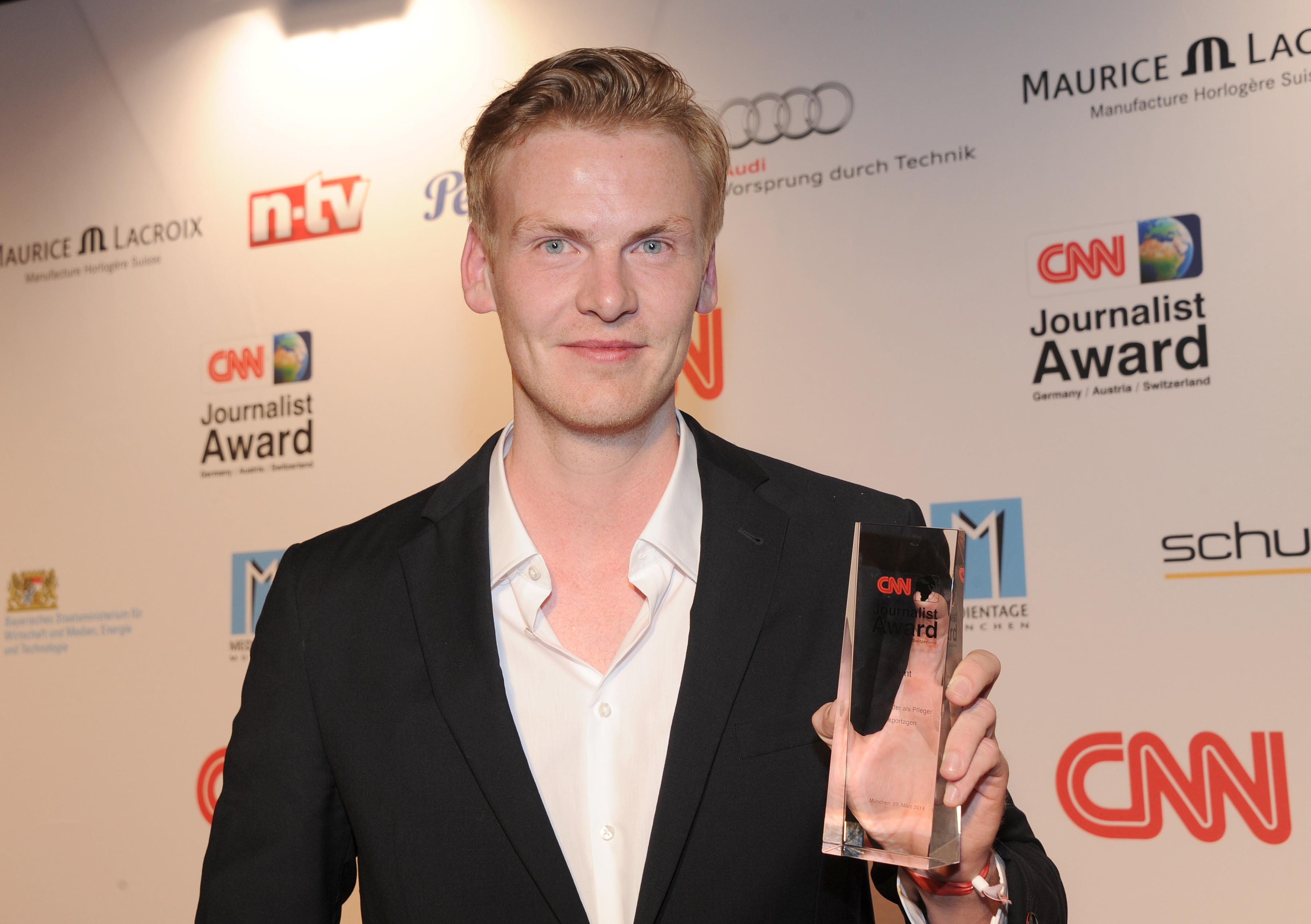 ▲德國雜誌《明鏡》周刊(Der Spiegel)記者雷洛希爾斯(Claas Relotius)得CNN年度記者大獎。(圖/達志影像/美聯社)