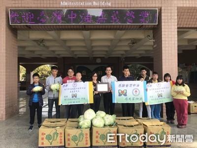 中油協助菜農 買高麗菜送社福團體
