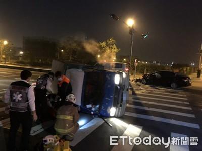 酒駕男和火鍋料小貨車擦撞 夫妻被壓車底