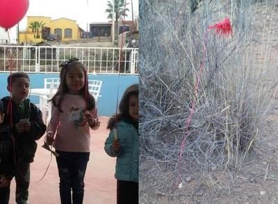 女孩用氣球許願 他跨越邊境送禮