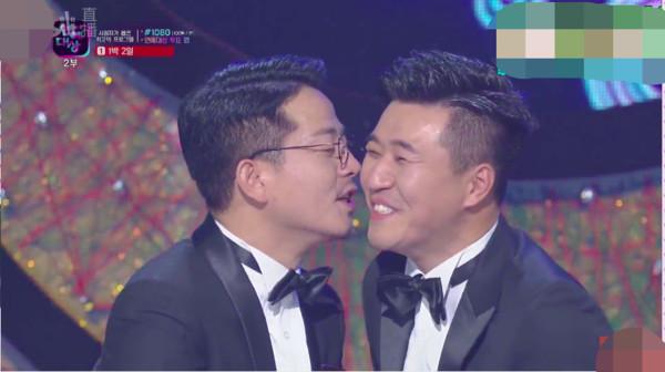 ▲▼KBS藝能大賞「Best couple賞」金鍾旼、金俊浩《兩天一夜》。(圖/翻攝自KBS)