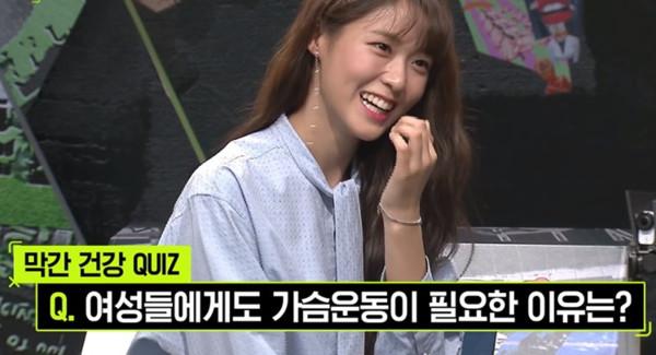 ▲▼AOA雪炫聊胸部問題,NU`EST JR害羞。(圖/翻攝Mnet)
