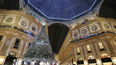 米蘭「艾曼紐二世迴廊」超美水晶聖誕樹
