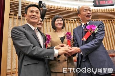 許崑源當選高市議長 韓國瑜道賀