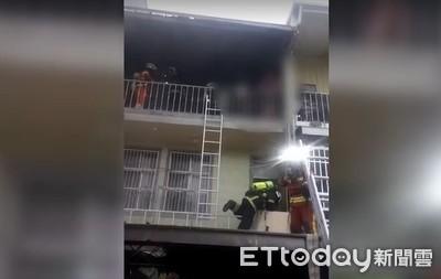 龍潭民宅火警 消防緊急救6人