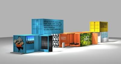 段行建響應空污影展 群創秀拼接電視牆