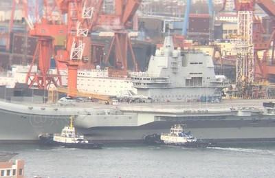 002型四次海試近興城艦載機基地