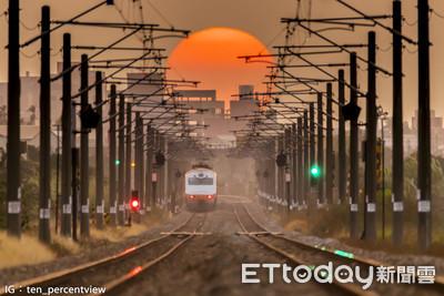 「鐵軌夕陽」爆紅 台鐵司機怒了