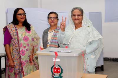 投票日17死 孟加拉鐵娘子又連任