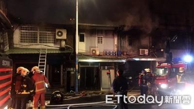 板橋大觀路火警 警消全力灌救中