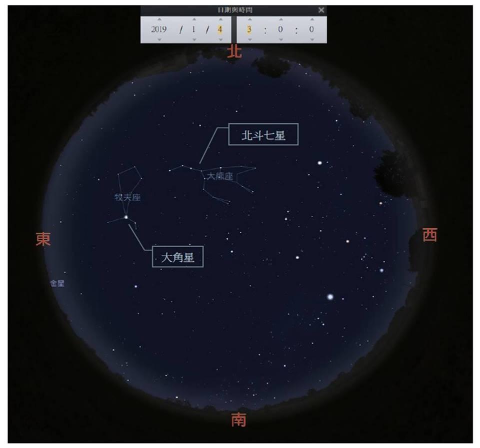 ▲▼2019象限儀座流星雨。(圖/中央氣象局)