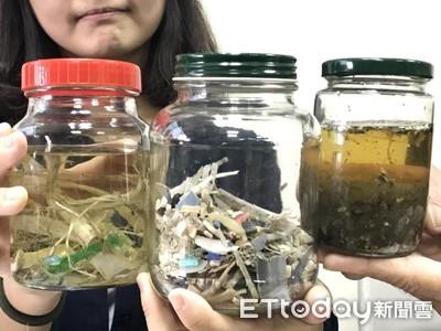 嚇人!八掌溪含超多塑膠微粒