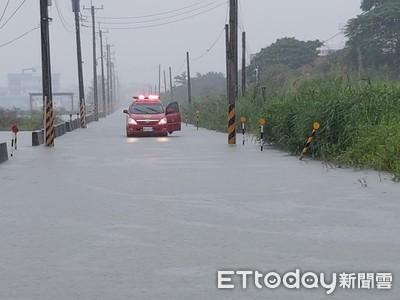 宜蘭連日大雨 冬山五結等地區積水不退