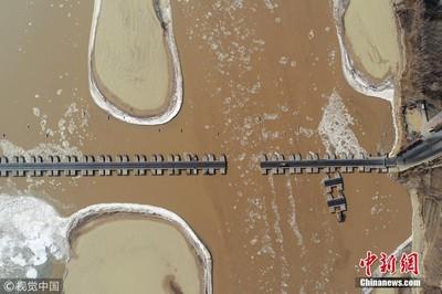山東黃河段多座浮橋臨時拆除