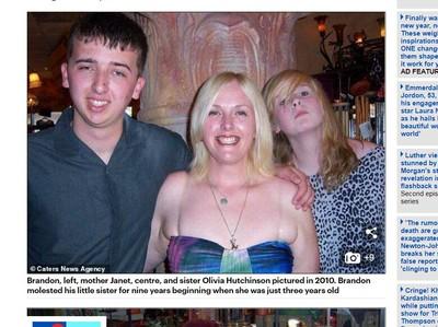 她3歲起遭怪物哥哥性虐待長達9年