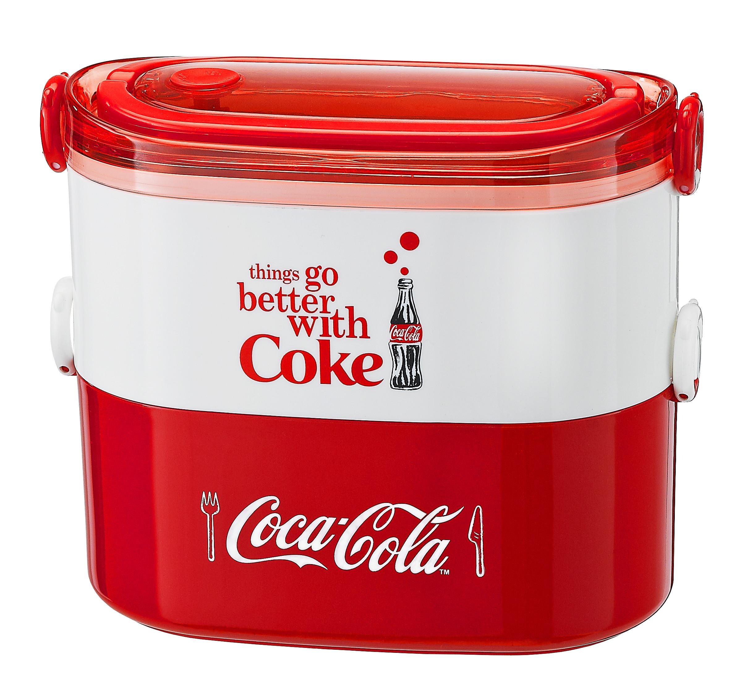 ▲▼「可口可樂」雙層便當盒。(圖/可口可樂公司提供)