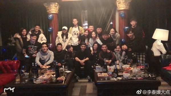 ▲「舒妃」李春嬡慶生派對。(圖/翻攝自李春嬡微博)