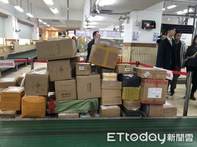中華郵政查獲109件違規肉品包裹!