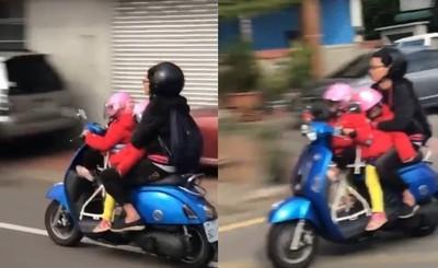 幼女「騎車載媽媽」狂飆? 網破解:手在這