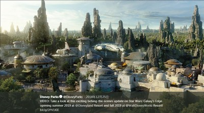 星戰園區今夏開幕 加州迪士尼漲幅達25%