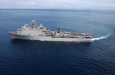 美登陸艦訪羅馬尼亞 可能舉行聯合演習